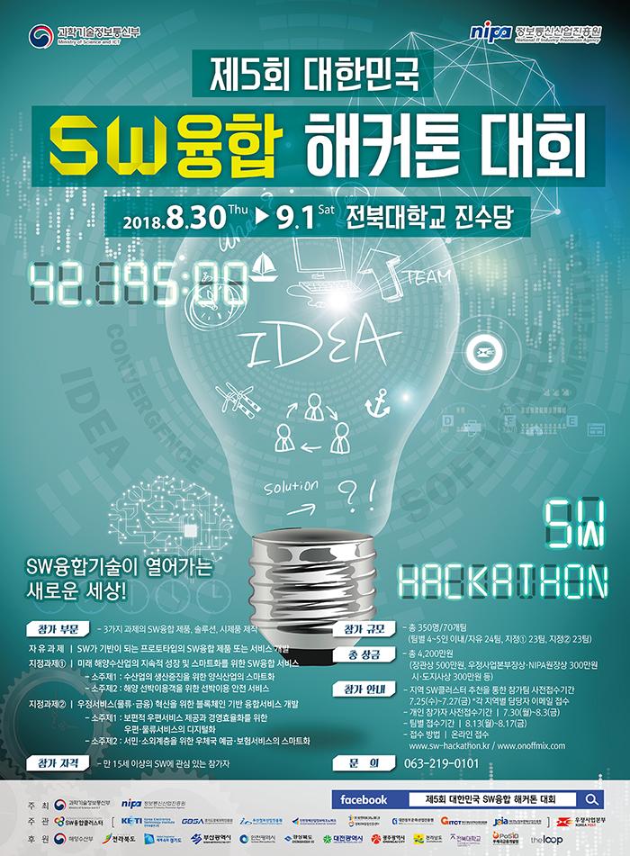 제5회 대한민국 SW융합 해커톤 대회