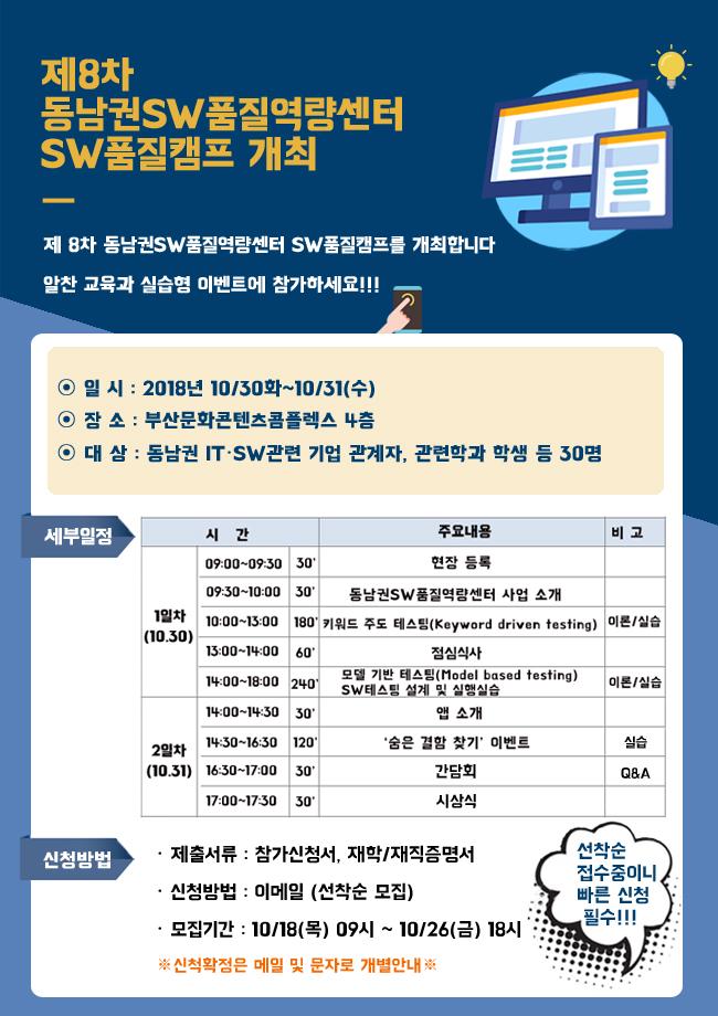 제8차 동남권SW품질역량센터 SW품질캠프 개최