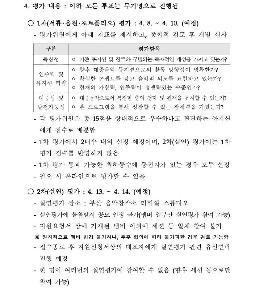 2019 부산 음악창작소 음반제작 지원사업 [싱글 트랙] 뮤지션 모집 공고