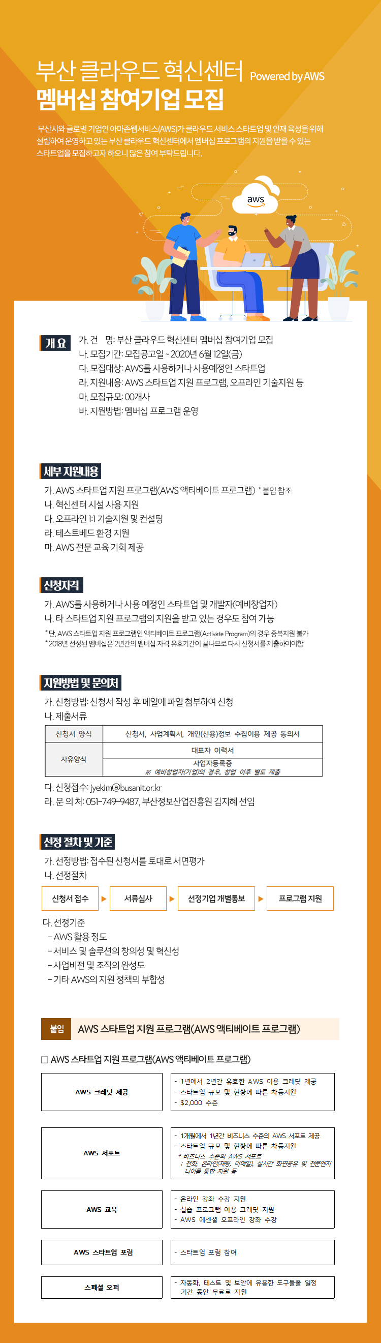 부산 클라우드 혁신센터 Powered by AWS 멤버십 참여기업 모집(~6월 12일까지)