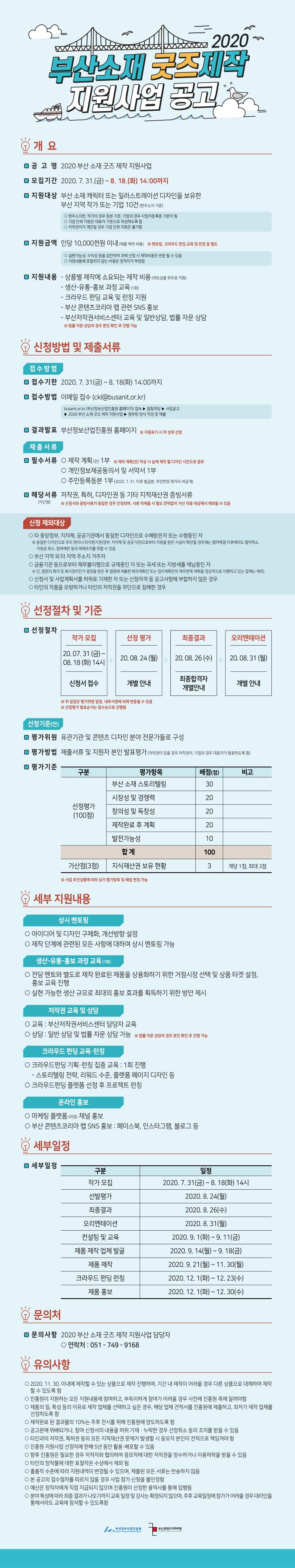 2020 부산 소재 굿즈 제작 지원사업 공고