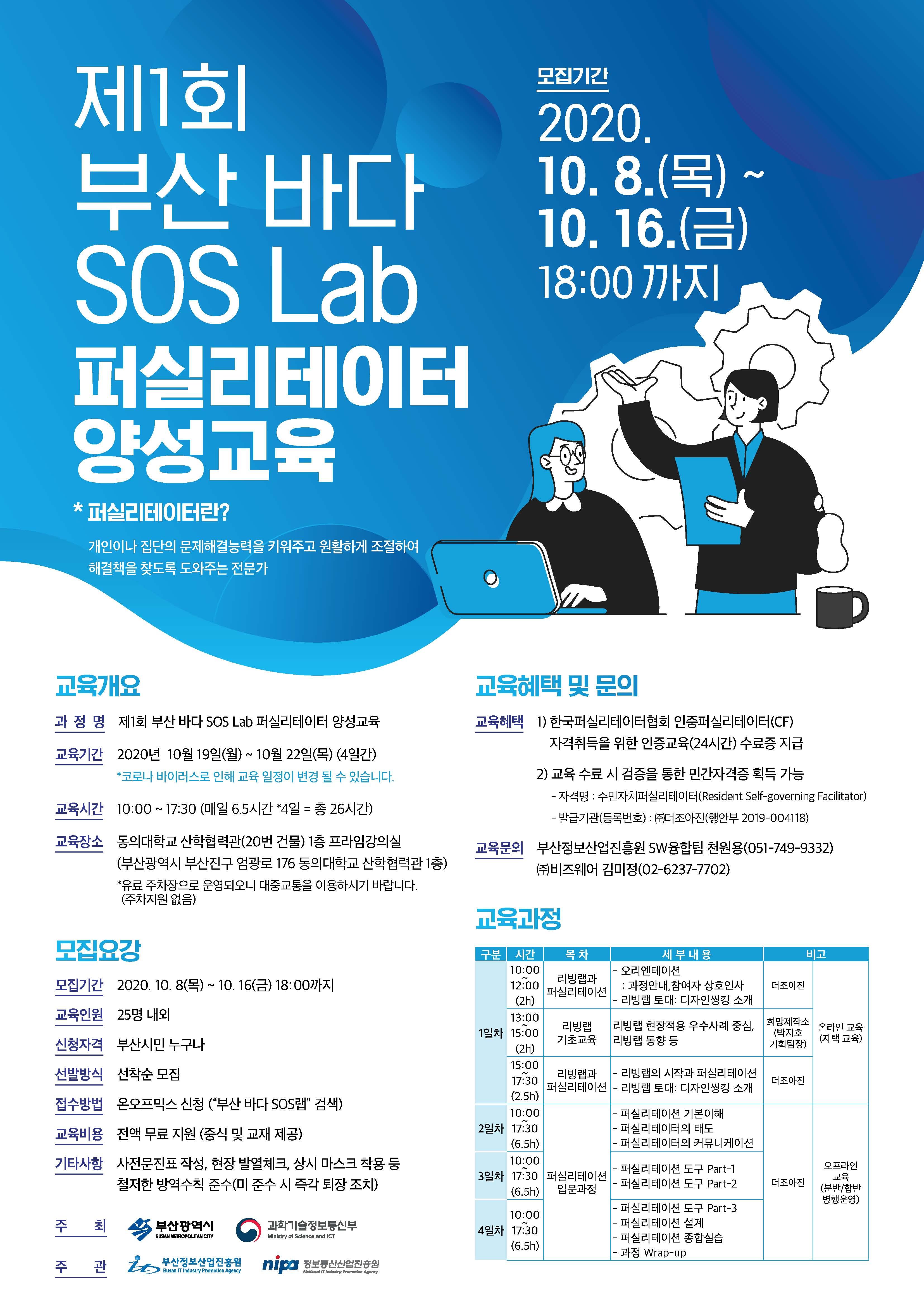 제1회 부산 바다 SOS LAb 퍼실리테이터 양성 교육