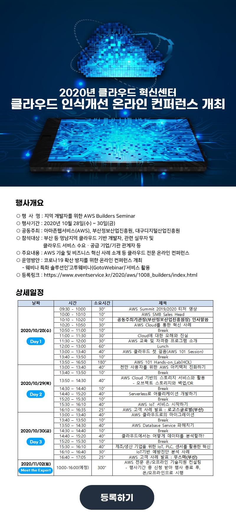 2020년 클라우드 혁신센터 클라우드 인식개선 온라인 컨퍼런스 개최
