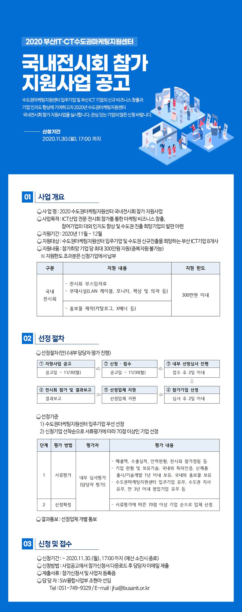 2020 부산IT·CT수도권마케팅지원센터 국내전시회 참가 지원사업 공고